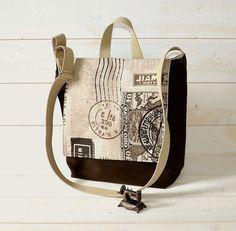 READY TO SHIP Messenger bag /Travel bag /Rucksack dark olive unisex Alfresco with adjustable strap