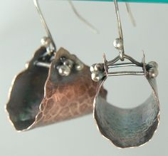 Shoply.com -Hoop Hangers Earrings - Mixed Metal, Sterling Silver and Copper. Only $39.95