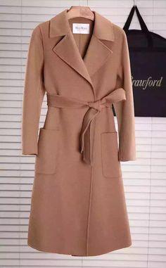 Max Mara Women's Saul Doppio Long Wrap Wool Cashmere Coat Fall/Winter 2015 Collection, Beige - Shop Ms Fashion Junkie