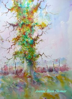 Ivy Tree.  Brusho Joanne Boon Thomas