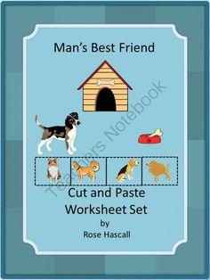 Man's Best Friend Cut and Paste Worksheet Set PK,K,Special Education, Autism from smalltowngiggles on TeachersNotebook.com (18 pages)