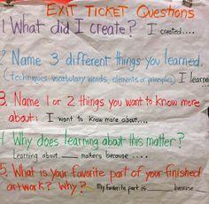 Zilker Elementary Art Class: Writing in Art Class