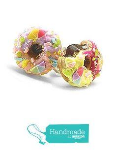 Rainbow Donut, Doughnut, Donuts, Studs, Stud Earrings, Amazon, Artwork, Handmade, Accessories