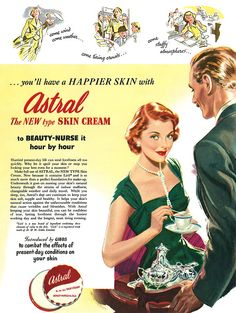 Astral Skin Cream advertisement.  From Illustrated magazine, 25th March, 1950.