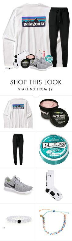 """Patty"" by southernstruttin ❤ liked on Polyvore featuring Patagonia, Love Moschino, NIKE, Pura Vida and tarte"