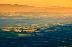 Palouse Sunrise. Colfax, Washington