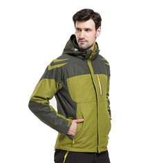 62.39$  Watch here - http://alixrt.worldwells.pw/go.php?t=32708554910 - Man Winter 3 In 1 Climbing Hiking Jaqueta Masculina Outdoor Camping Sport Coat Waterproof Jacket Men Windstopper Ski Snow Casaco
