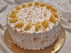 Citromos joghurtos torta Sweet And Salty, No Bake Desserts, Cake Cookies, No Bake Cake, Vanilla Cake, Oreo, Tart, Cake Recipes, Clean Eating