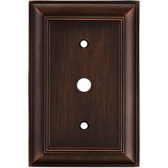 Lowes Wall Plates Alluring Lowes $697 Allen Roth 1Gang Oil Rubbed Bronze Standard Toggle