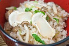 Japanese Mushroom Rice Bowl-Matsutake Gohan