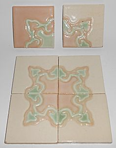 "Vintage Set/6 California Art Tile Company 4"" Tiles California Art, Vintage California, Antique Tiles, Edwardian Fashion, Tile Art, Making Out, Mosaic, Antiques, Decor"
