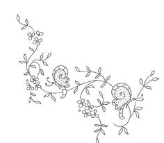 Broderie D'Antan: Embroidery Patterns (5 patterns)