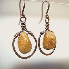 Mystery+Stone+Earrings+Chunky+Mustard+by+RoughMagicCreations,+$26.00