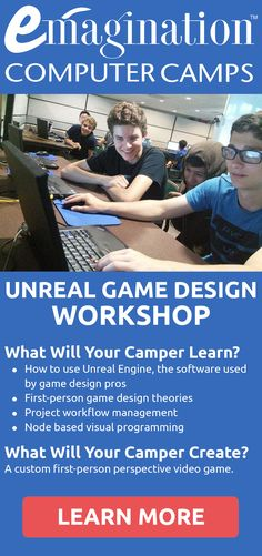 Using the Unreal Game engine, campers create a game from the first-person perspective. They explore the advantages and disadvantages of gameplay from this perspective and determine how to maximize character control, field of vision, and asset creation.