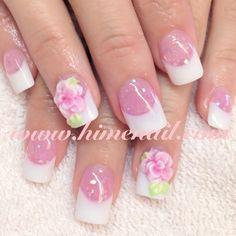 French nails! Japanese Nail Art www.himenail.com  Tustin CA OrangeCounty #HimeNail #HimeNails #GelNail #Manicure #NailArt