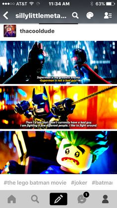 Can I just say how much I love the way they made a joker and batman antiship