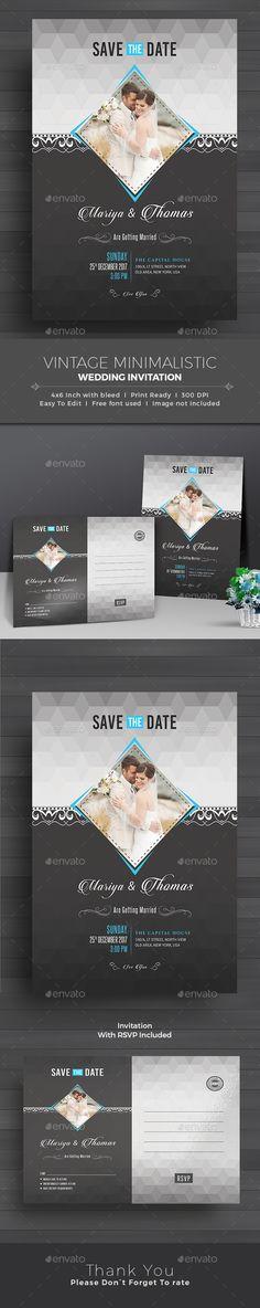 Wedding Invitation by themedevisers Elegant Wedding Invitation Card Template This Elegant Wedding Invitation Card design is suitable for both traditional and modern