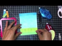 Mixed Media card tutorial using #Gelatos and Art GRIP Aquarelle Watercolor Pencils