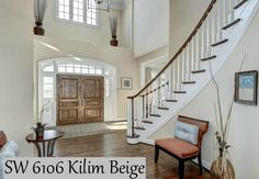 Sell my house fast when you paint with Sherwin Williams Kilim Beige – Top Trend – Decor – Life Style Foyer Paint Colors, Beige Paint Colors, Paint Colors For Home, House Colors, Beige Living Rooms, Living Room Paint, Living Room Decor Colors, Bedroom Colors, Kilim Beige Sherwin Williams