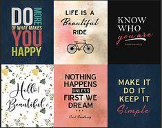 Printable Quotes Bundle 8 (set of Printable art, home decor, Digital Print, frame, Printable wall art Printable Quotes, Printable Wall Art, Digital Prints, Printables, Shit Happens, Frame, How To Make, Life, Etsy
