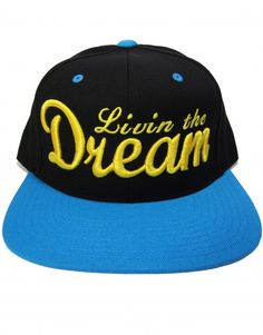 Livin' the Dream Teal & Gold Women's Snapback Hat $14.95