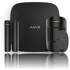 Ajax StarterKit Plus - Set centrálního ovládacího panelu (ústředny) Hub Plus s wi-fi, PIR detektoru pohybu MotionProtect, magnetického kontaktu DoorProtect a dálkového ovladače SpaceControl; barva černá. Ajax StarterKit Plus tvoří jádro zabezpečovacího systému Ajax. Ajax StarterKit Plus představuje profesionální řešení ochrany života a majetku s unikátním nadčasovým designem a maximální uživatelskou přívětivostí.