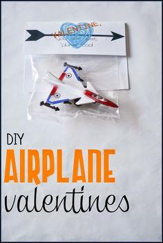 Airplane Valentines