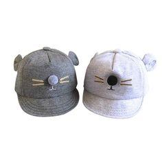 ace1c23197e Lovely Cat Little Ear Cap Warm Child Sun Hat 2017 Summer Cute Lovely Newborn  Toddler Kids Baby Girls Boys Baseball. Yesterday s price  US  2.68 (2.21  EUR).