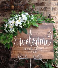 Wedding Welcome Sign Wedding Signs Welcome by HeartandSoulDsigns