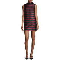a08551cb679 RED Valentino Sleeveless Cherry-Print Shift Dress