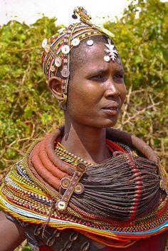 Africa   Rendille woman.