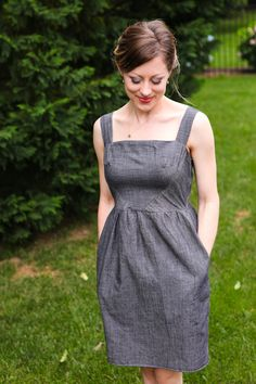 hazel dress pattern - maybe make the skirt a little more A-line