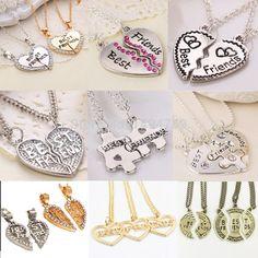 New Hot Heart Broken Style 2-Piece And 3 Parts Pendant Necklace Best Friend Forever Necklace Jewelry Gift For Girl <3 Ver el elemento en detalles haciendo clic en la VISITA botón