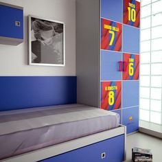 Best Fc Barcelona Bedroom Kades 2Nd Favourite Footy Team After Spurs He Would Love This Home 400 x 300