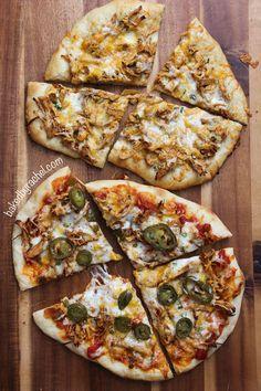 Taco Pizza: Two Ways, recipe at bakedbyrachel.com