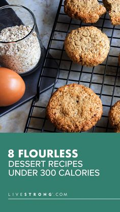 No wheat flour, no problem. These delicious, flourless dessert recipes — think: no-bake cookies to crispy rice bars — all clock in under 300 calories. Flourless Dessert Recipes, Healthy Desserts, Healthy Recipes, Eat Healthy, Chef Recipes, Crockpot Recipes, Recipes Dinner, Recipes With Coconut Cream, Desserts With Chocolate Chips