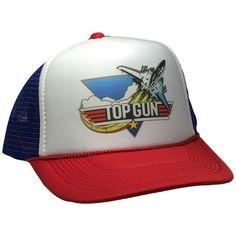 Vintage Top Gun Hat Movie Trucker cap red white blue adjustable snap back hat #TruckerHat #Trucker #Casual Trucker Hats, Snapback Hats, Nascar Hats, Baseball Hats, Vintage Cat, Vintage Tops, 5 Panel Cap, 80s Movies, Top Gun