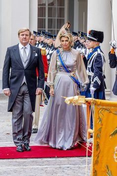 King Willem-Alexander of The Netherlands and Queen Maxima of The Netherlands of The Netherlands arrived at Palace Noordeine for the annual opening of the Parliamentary year Prinsjesdag 2018 in The Hague, Netherlands. Dutch Princess, Dutch Queen, Queen Maxima, Queen Letizia, King Of Netherlands, Prince Day, Style Royal, Estilo Real, Luisa Beccaria