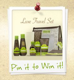 We're showing love to all of our Pinterest fans by giving away the Luxe Travel Set! To enter the contest all you have to do is: RE-PIN THIS IMAGE for a chance to win. Entries will be accepted until 05-31-2013 and ONE lucky winner will be chosen at random. Good Luck!