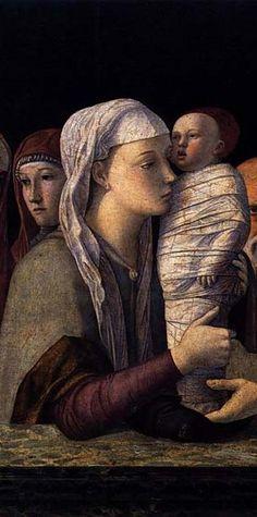 Madonna col Bambino della Presentazione al tempio  1460-64 tempera su tavola, cm 80 x 105 Fondazione Querini Stampalia, Venezia