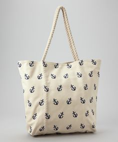 Navy Anchor Tote | Daily deals for moms, babies and kids