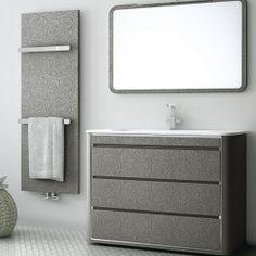 Fiora textured radiator & unit grey Rosas