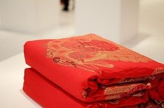 Silk quilt-every bride will receive it as a wedding gift prepared by their mother
