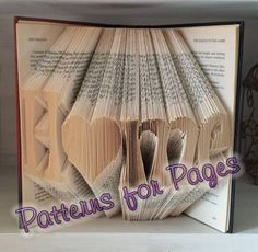 Book folding pattern for HOME (with a HEART)