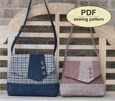 New: Sewing pattern to make the Attleborough Messenger Bag