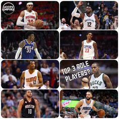 Who are the top 3 Role Players in the NBA?--------------------------------------#NBA #basketball #nbamemes #bigballerbrand #trusttheprocess #ball #ballislife #Mvp #2k #nba2k #2k18 #rockets #warriors #lakers #celtics #timberwolves #cavs #spurs #sixers #bucks #magic #pelicans #hornets #pistons #pacers #nets #kings #suns