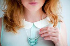 DIY Ombre : DIY The ombre melon seeds necklace