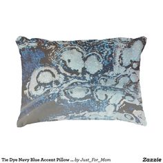 Tie Dye Navy Blue Accent Pillow by Janz