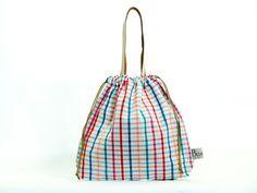 กระเป๋าผ้าขาวม้า Small Leather (Rainbow)