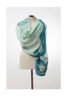 Get this Super-light weight pure Italian silk scarf that can be worn through every season to you. This scarf is fully hand-loomed, hand finished and hand cut. Lake Como Italy, Wave Design, Turquoise, Pure Products, Silk, Luxury, Handmade, Collection, Bracelets